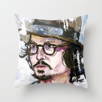 Johnny Depp Throw Pillow