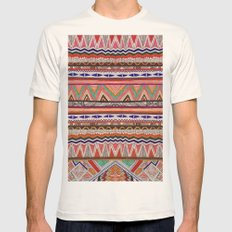 TRIBAL NOMAD Mens Fitted Tee Natural SMALL