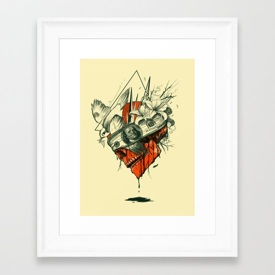 Blind Framed Art Print
