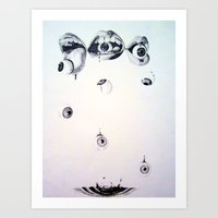 Eyes n' Mouths Art Print