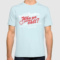 Better Call The Boys in Gray Mens Fitted Tee Light Blue SMALL