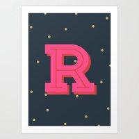 R is for Rad Art Print