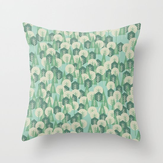 Geometric Woods Throw Pillow