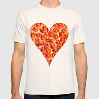 PIZZA Mens Fitted Tee Natural SMALL