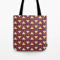 Blue Orange Triangles Tote Bag