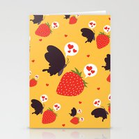 the death loves the strawberry Stationery Cards