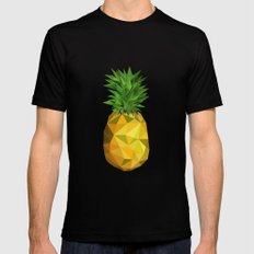 Pineapple SMALL Black Mens Fitted Tee