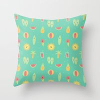 Summer Fun Throw Pillow