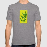 Leaf Shadow Mens Fitted Tee Tri-Grey SMALL