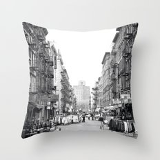 Lower East Side Market Throw Pillow