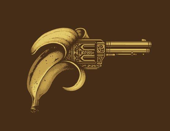 Banana Gun Art Print