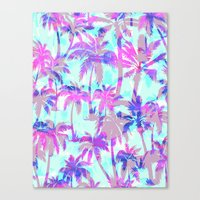 Maui Palm {Pink} Canvas Print