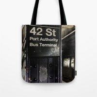 42nd street subway stop Tote Bag