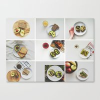 Canvas Print featuring Morning stories - AVOCADO set by Lucia Jesenská