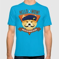 Hello Wow, Omelette Du F… Mens Fitted Tee Teal SMALL