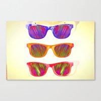 Sunglasses In Paradise Canvas Print