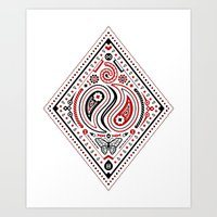 83 Drops - Diamonds (Red… Art Print