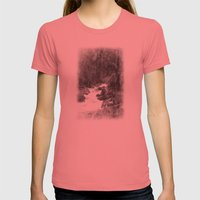 Whiteout Yosemite-2 Womens Fitted Tee Pomegranate SMALL