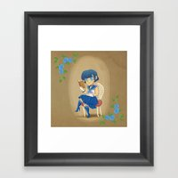 Retro Sailor Mercury Framed Art Print