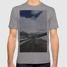 Snowy Road Mens Fitted Tee Athletic Grey SMALL