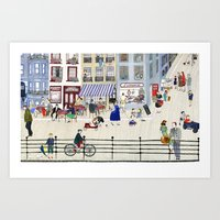 On The Dike (in Ostend) Art Print