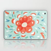 Whimsical Decorative Red Flower Laptop & iPad Skin