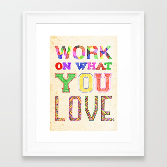 Life & Love Framed Art Print