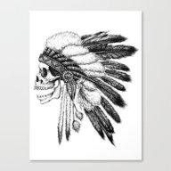 Canvas Print featuring Native American by Motohiro NEZU