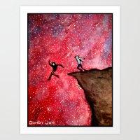 Jumping Off The Edge Art Print