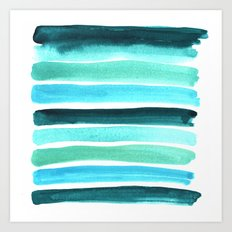 Beach colors Art Print