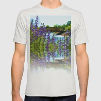 Reflection Mens Fitted Tee Silver SMALL