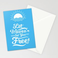 Let the Waves Set you Free Stationery Cards