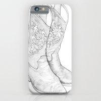 iPhone & iPod Case featuring Cowboy Boots by Raül Vázquez