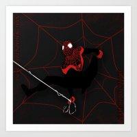 Ultimate Spider-man Mile… Art Print