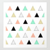 Prism Triangles Art Print