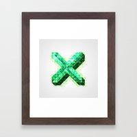 The Letter X Framed Art Print