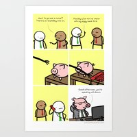 Antics #029 - Financial … Art Print