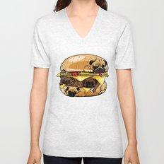 Pugs Burger Unisex V-Neck