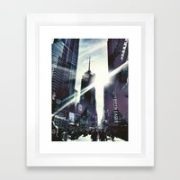 New York by iPhone 3 Framed Art Print