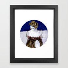 Frosty the Cowboy Framed Art Print