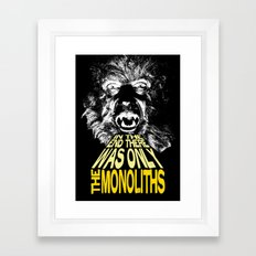 The Monoliths Print Framed Art Print
