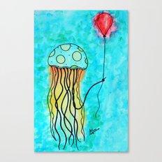 Jellyfish and Balloon Canvas Print