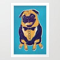 Henry The Pug Art Print