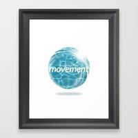 Create Movement Framed Art Print