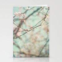 spring #3 (cool bleu) Stationery Cards