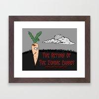 The zombie carrot Framed Art Print