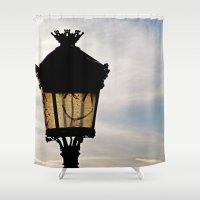 Happy Lamp Shower Curtain