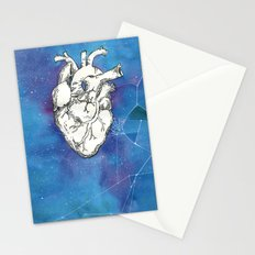 My heart in the cosmos Stationery Cards