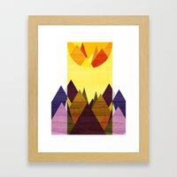Morning, Mountain Framed Art Print