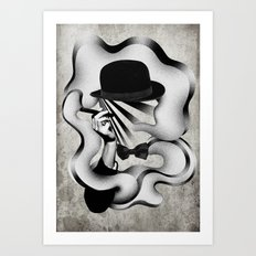 gentle smoke Art Print